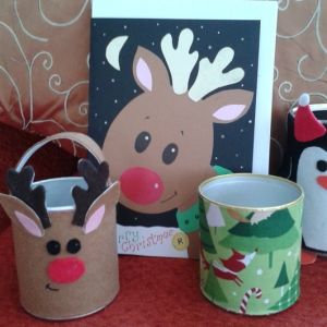 Reindeer card and reindeer pen tidy